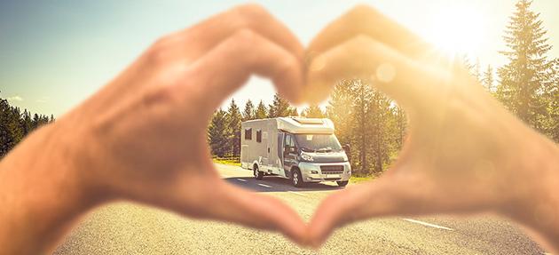 Liefde voor acties voor uw geliefde camper